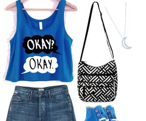 blue, outfit, and the fault in our stars image