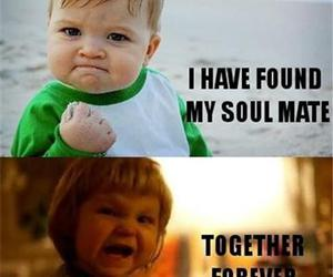 baby, funny, and soulmate image