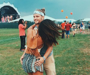 couple, festival, and indie image