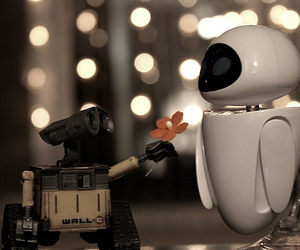 eva, wall-e, and cute image