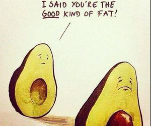 avocado, funny, and fat image
