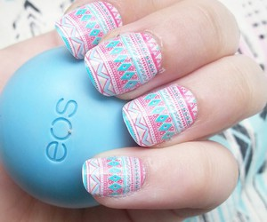 nails, eos, and blue image