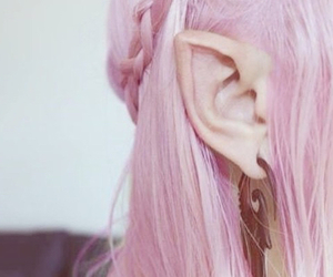 elf, pink, and hair image