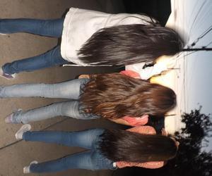 girls, hair, and long image