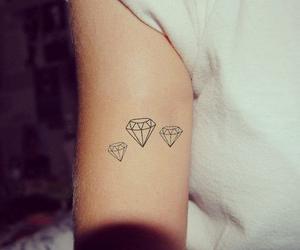 tattoo, diamond, and arm image