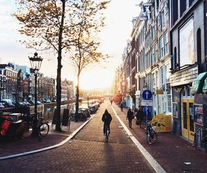 amsterdam and sun image