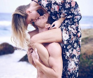 couple, forever, and kiss image