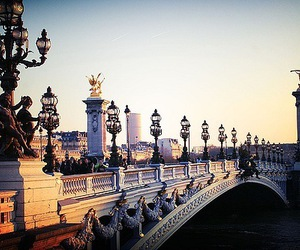 paris, bridge, and france image