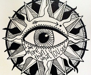 eye, sun, and art image