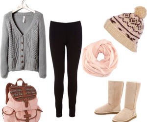 outfit, winter, and leggings image
