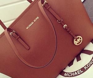 bag, Michael Kors, and brown image