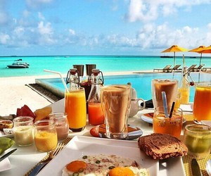 breakfast, food, and ocean image