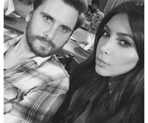 kim kardashian and scott disick image