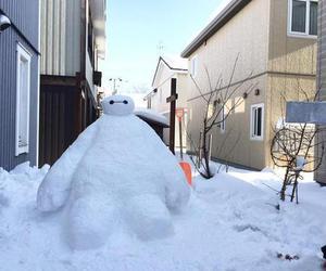 baymax, snow, and big hero 6 image