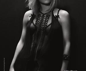 ashley olsen and black and white image