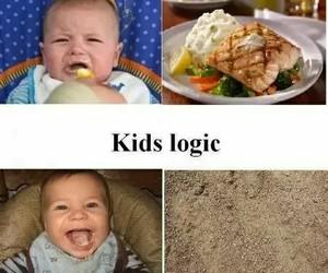 funny, kids, and food image