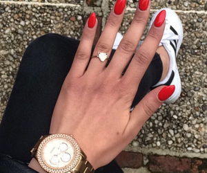 nails, red, and gelnails image