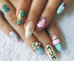 ice cream, nails, and pretty image