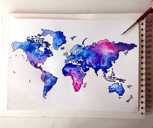 art, world, and blue image