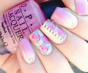 flowers, pink, and summernails image