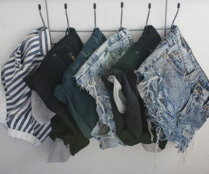 clothes, room, and shorts image