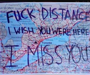 distance and missing someone image