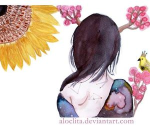 acuarela, illustration, and ilustracion image