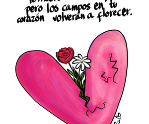 campo, flowers, and heart image