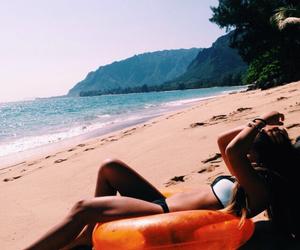 beach, bikini, and follow image
