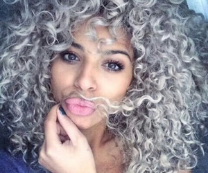 hair, grey, and curly image