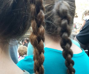 best friends, chain braid, and best friend braid image
