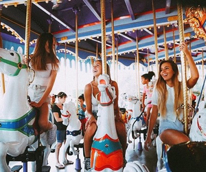 amusement park, bff, and childhood image