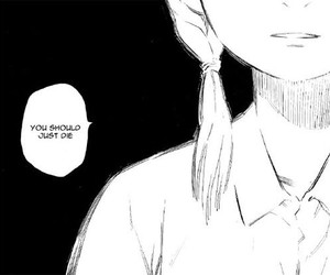 manga and black and white image