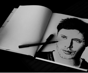 art, dean winchester, and drawing image