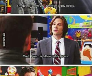 dean winchester, jared padelecki, and funny image