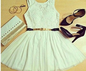 dress, outfit, and shoes image