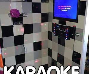 karaoke, shower, and crazy image