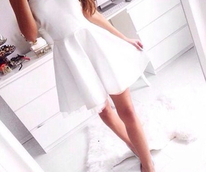 dress, white, and fashion image