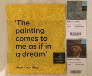 art, yellow, and van gogh image