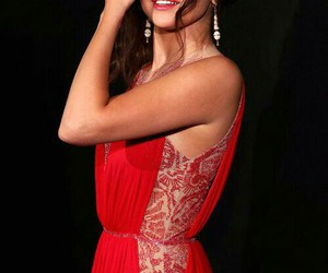 dress, red, and selena gomez image