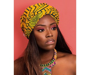 African woman, black woman, and yellow image