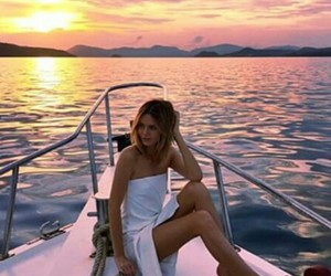 boat, lovely, and sun image