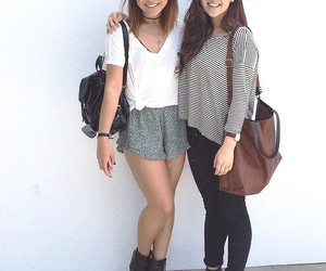 girl, outfit, and friends image