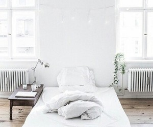 bed, white, and cozy image