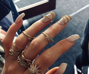 nails, rings, and kylie jenner image