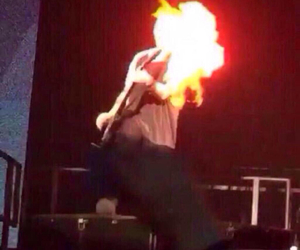 Clifford, fire, and 5sos image