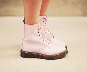 beautiful, pink, and boot image