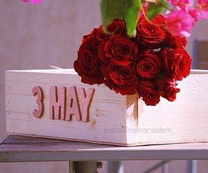 birthday, flowers, and may image