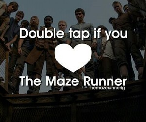 heart, thomas, and maze runner image