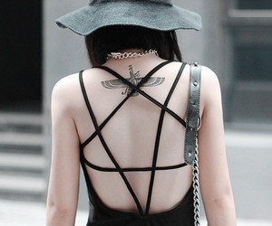 girl, goth, and dress image